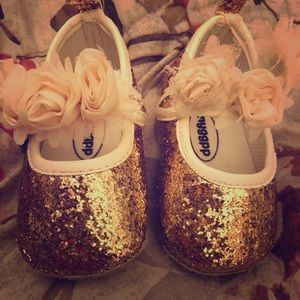 Glitzy baby girl shoes